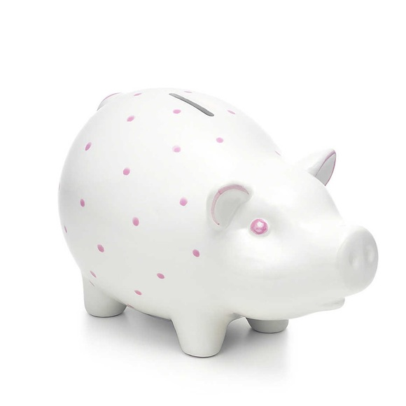 Tiffany & Co. Other - Tiffany Pink Polka Dot Piggy Bank